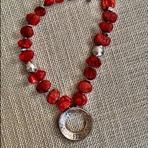 Silpada Sterling Silver and lava stone necklace